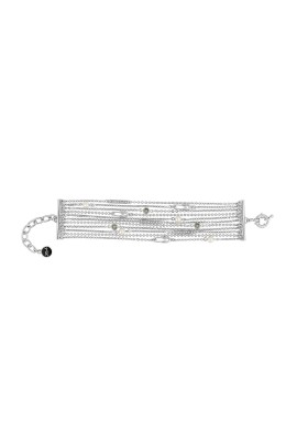 SAFETY PIN & PEARL MULTI