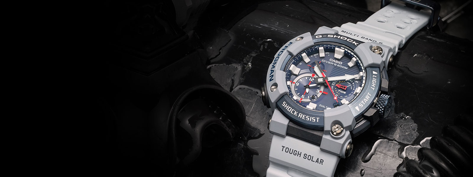 """<span style=""""color: #fff"""">G-SHOCK<br>FROGMAN"""
