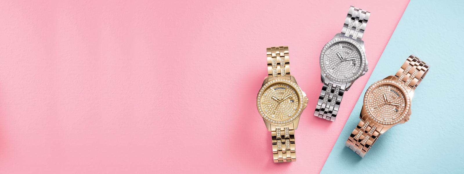 Uvek ćeš blistati<br> uz ovaj Guess sat!