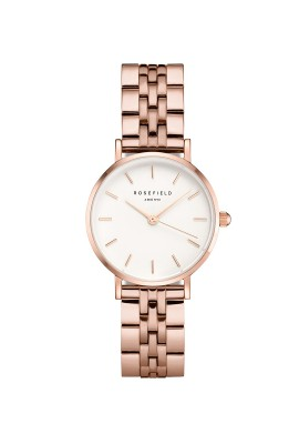 The SMALL EDIT WHITE STEEL ROSE GOLD